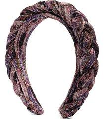 missoni braided glitter-effect headband - multicolour