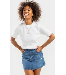 harper heritage distressed denim mini skirt - medium wash