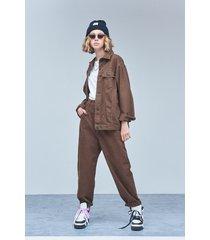 pantalón marrón 47 street slouchy all brown