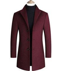 chaqueta abrigo larga hombre lana casual sa837 vinotinto