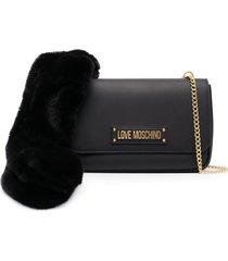 love moschino pu shoulder bag w/scarf