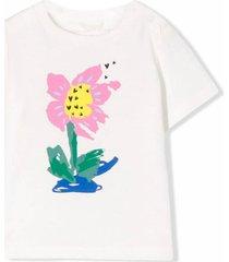 stella mccartney white cotton t-shirt
