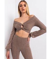 akira comfy tingz casual knit top