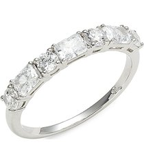 adriana orsini women's rhodium-plated sterling silver & cubic zirconia ring - size 7