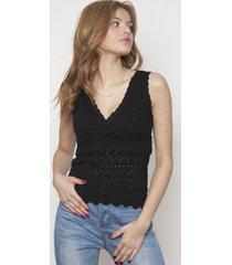 blusa cruzado sin mangas negra 609 seisceronueve