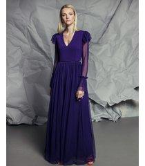 suknia plum maxi