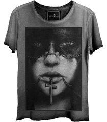 camiseta estonada skull lab caveira  grafite - kanui