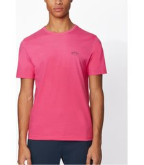 boss men's tee curved bright pink t-shirt