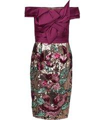 artwork sequin coctail dress