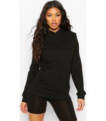 kangaroo pocket hoodie, black