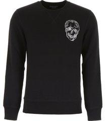 alexander mcqueen sweatshirt with skull embroidery