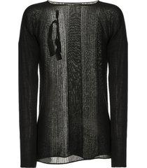 boris bidjan saberi distressed sweater - black