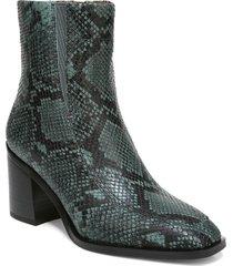 women's sarto by franco sarto romana square toe bootie, size 9.5 m - blue/green
