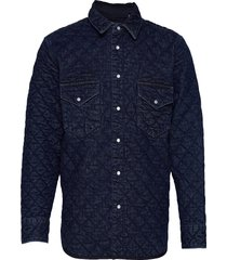 lmc quilted western lmc outbac overshirt blauw levi's made & crafted