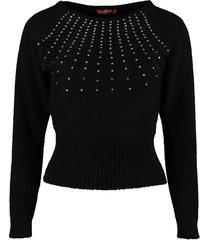 max mara studio ghianda long-sleeved crew-neck sweater