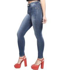calça jeans sawary cigarrete sculp azul