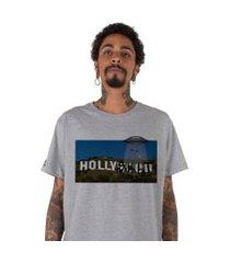 camiseta   stoned hollyshit cinza