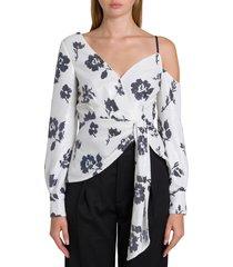self-portrait asymmetric blouse