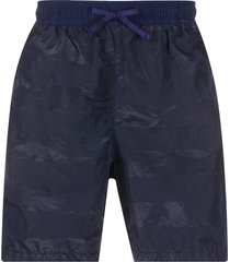 stone island shadow project striped swim shorts - blue