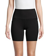 high-waist stretch shorts