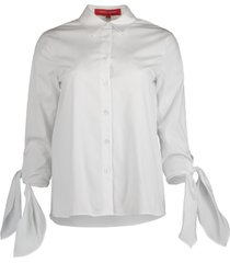 cuff tie collared shirt
