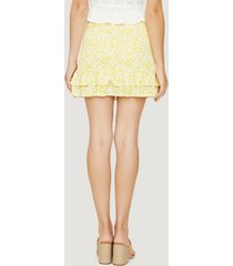 women's lost + wander sweet summer daze skirt, size x-large - yellow