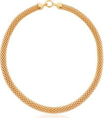gold doina wide chain necklace