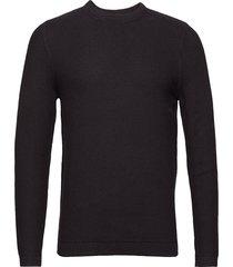 hubert 6194 gebreide trui met ronde kraag zwart nn07