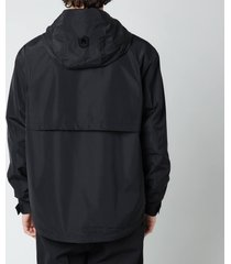 mackage men's bernie hooded jacket - black - xl
