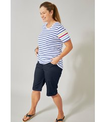 shorts janet & joyce marinblå