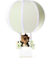 abajur balãozinho floresta potinho de mel verde