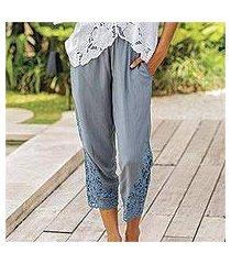 rayon pants, 'padma flower' (indonesia)