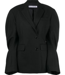 acne studios wide sleeve double-breasted blazer - black