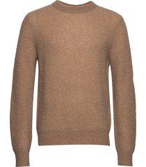 m. julian sweater gebreide trui met ronde kraag bruin filippa k