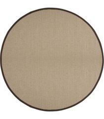 safavieh natural fiber sage and brown 6' x 6' sisal weave round area rug