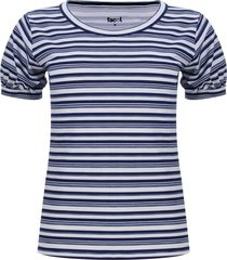 camiseta mujer puño recogido color blanco, talla 12