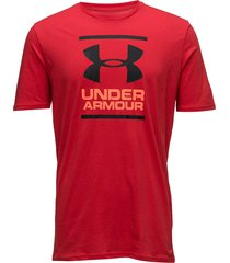 ua gl foundation ss t t-shirts short-sleeved röd under armour