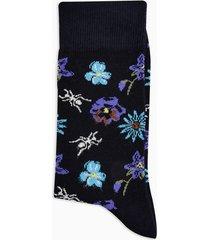 mens multi floral motif socks