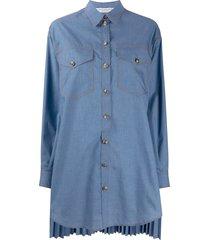 philosophy di lorenzo serafini oversized denim shirt dress - blue