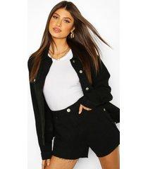 oversized jean jacket, black