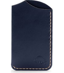 ezra arthur no. 1 leather card case in navy at nordstrom