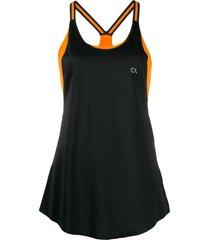 calvin klein loose fit vest - black