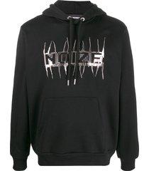 diesel s-girk-hood-j1 relaxed-fit hoodie - black