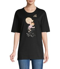 graphic patch cotton-blend tee