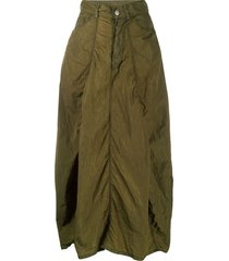 andrea ya'aqov full-shape midi skirt - green