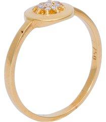anel vintage em ouro