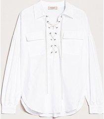 twin-set blouse wit