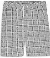 mens grey gray check shorts