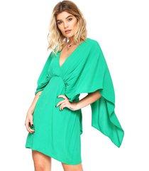 vestido colcci curto blusê verde