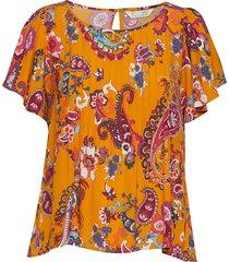 knock-off top blouses short-sleeved oranje odd molly
